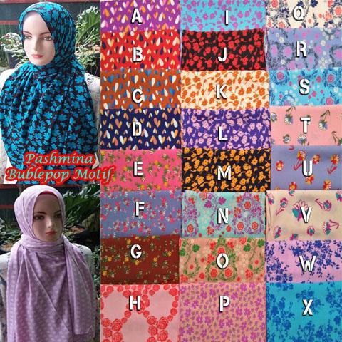 Pashmina Bubblepop Motif SG Jilbab 06 Mar'17