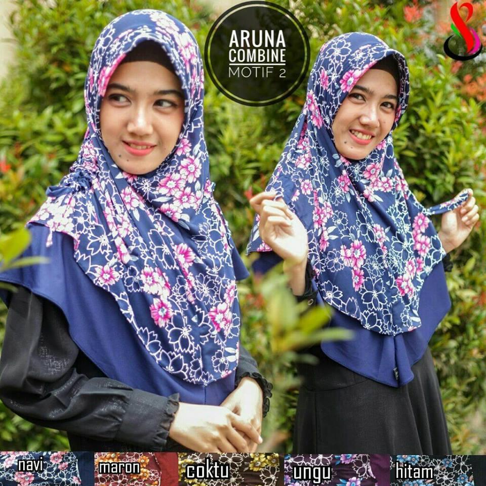 Aruna Combine Motif 2nd SG Jilbab