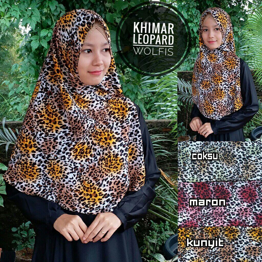 Khimar Leopard SG Jilbab
