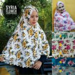Kerudung Syria Flower