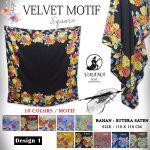 Velvet Motif Design 1 SG Jilbab
