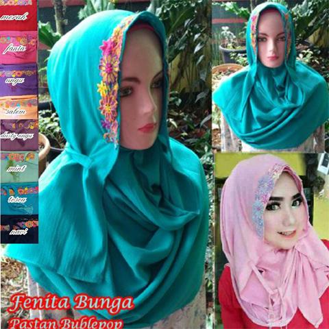 Fenita Bunga 37 40 50 670 SG Jilbab