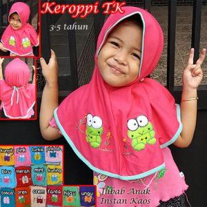 Jilbab Anak Keroppi TK