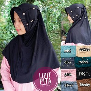 Jilbab Lipit Pita Swarosky