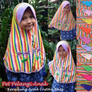 Jilbab Pet Pelangi Anak