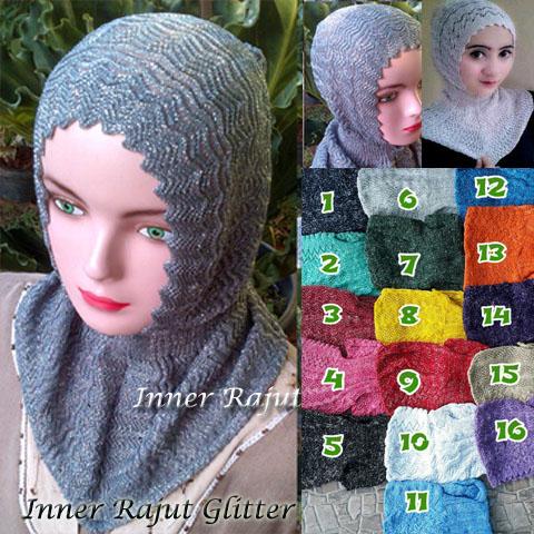 Inner rajut Glitter 14 16 25 220 SG Jilbab 26 Agustus'17