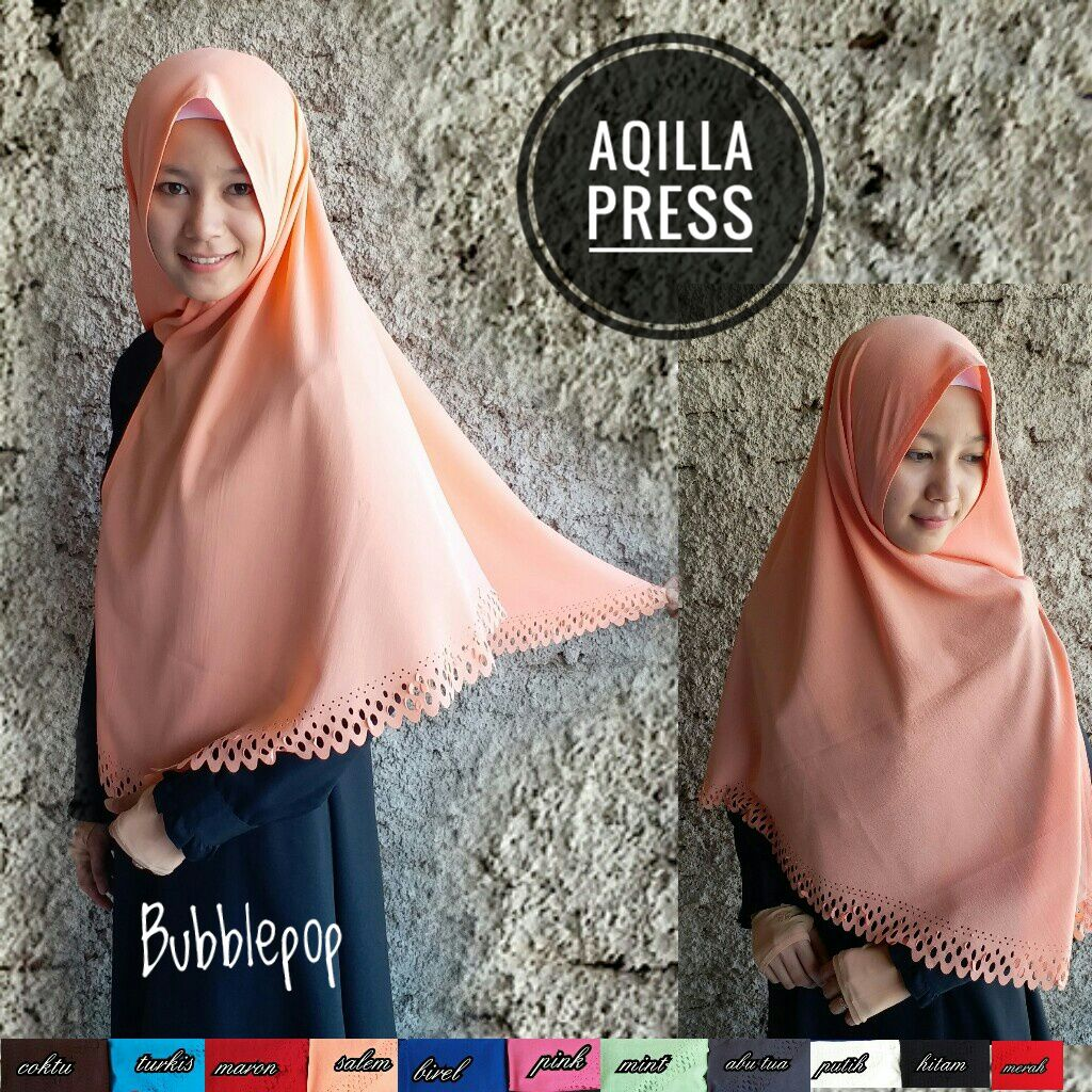 Khimar Aqilla Press 38 41 50 700 SG Jilbab