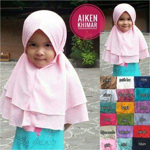 Kerudung Anak Aiken Khimar