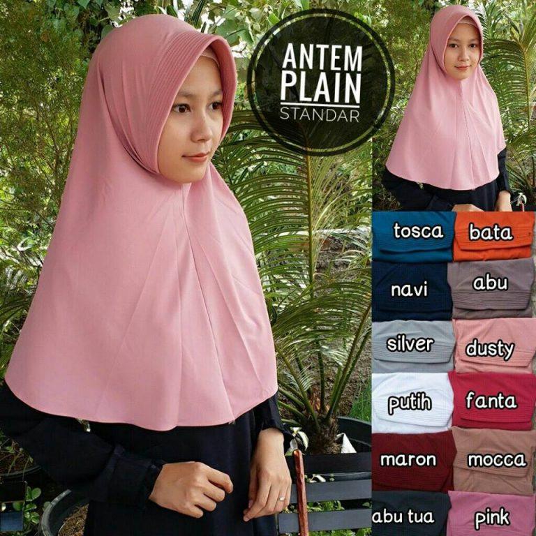 Antem Plain Standar 28 31 40 510 SG Jilbab