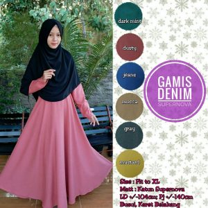 Gamis Denim Supernova