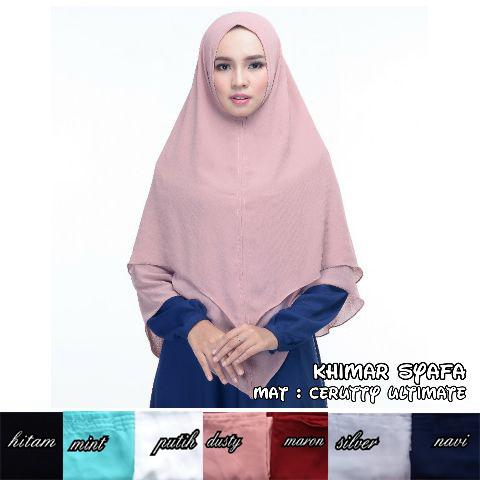 Khimar Syafa 50 53 65 940 Sg Jilbab 95x 105 cm Tinggi Model 172 cm Update 17 Okt'17
