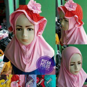 Jilbab Anak Pican Polos