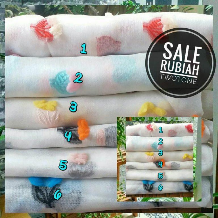 Sale Rubiah Twotone 35 (6 pcs , seri) 28,5 ( 10 pcs atau kodian) SG Jilbab