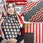 SALE STOCK Segiempat Bendera Satin AB
