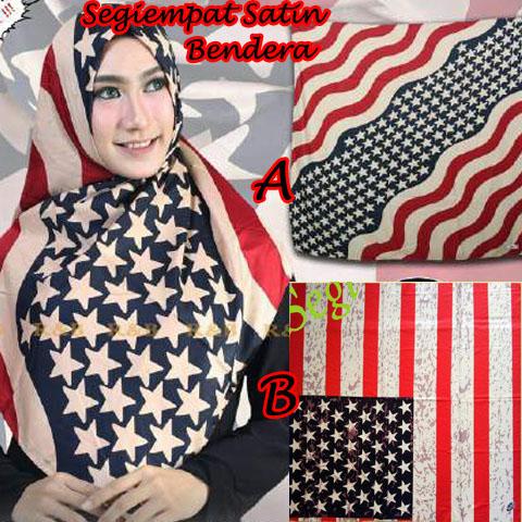 Segiempat Bendera Satin AB 27 30 40 480 SG Jilbab