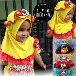 Flow Hat 14 16 20 24 Jilbab Anak SG Jilbab