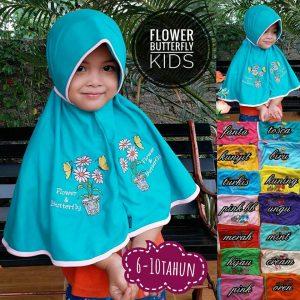 Jilbab Anak Flower & Buterfly