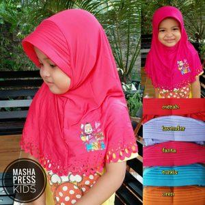 Jilbab Anak Masha Press