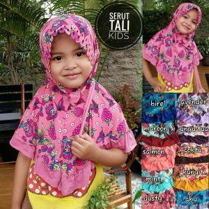 Jilbab Anak Serut Tali Kids