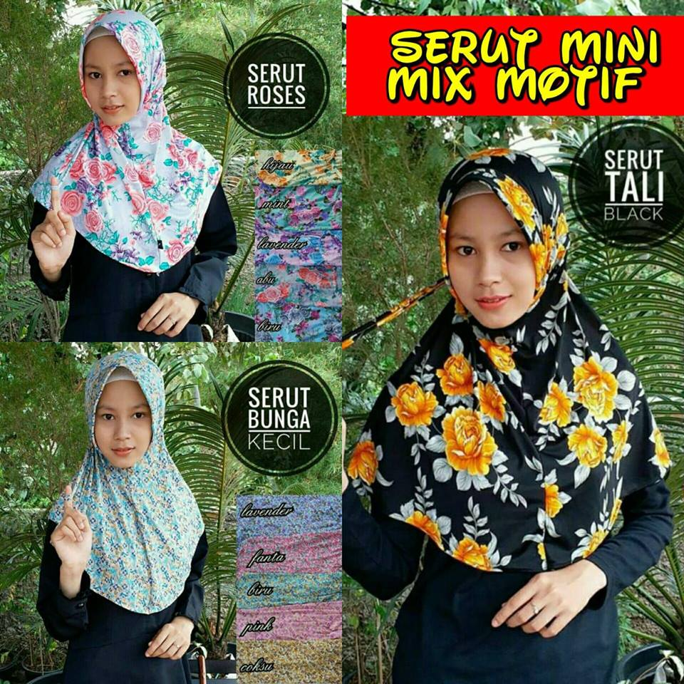 Serut Mini Mix 23 30 SALE STOCK SG Jilbab