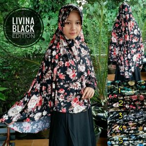 Kerudung  Livina Black