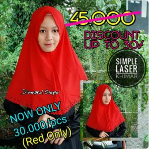 SALE Khimar Simple Laser