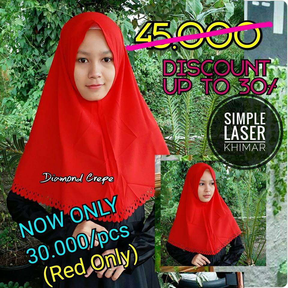 SALE Simple Laser SG Jilbab