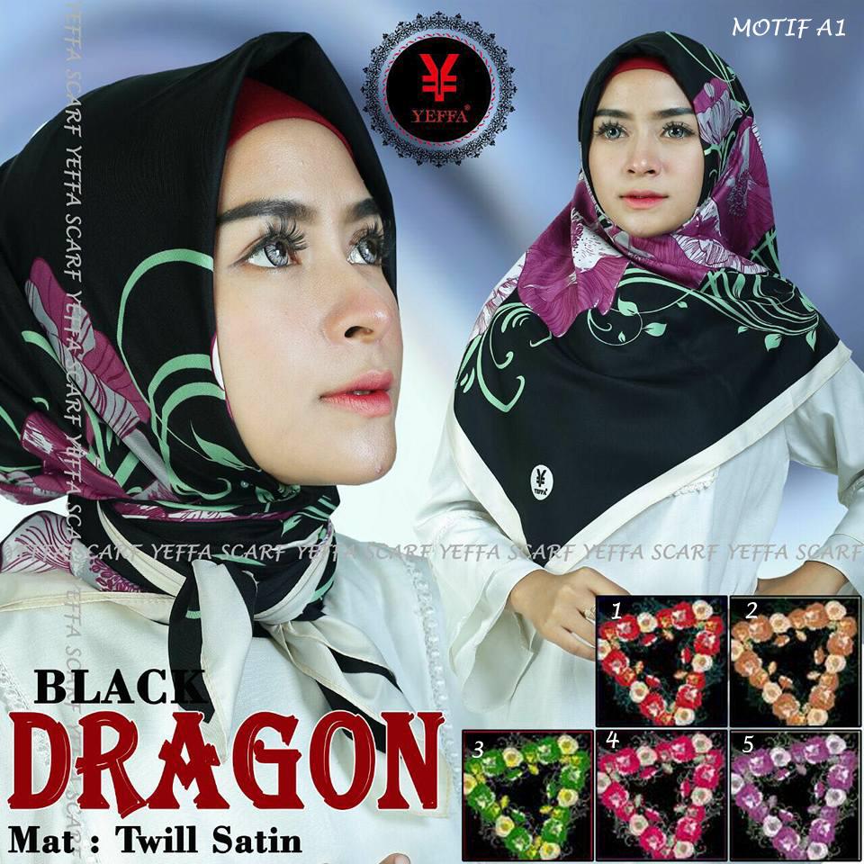 Segeimpat Black Dragon by YEFFA SG Jilbab Motif A1