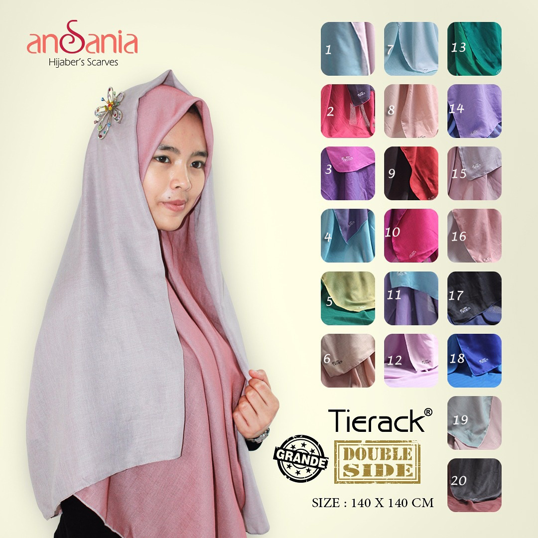 Tierack Double Side Jumbo 43 46 60 800 by Ansania SG Jilbab