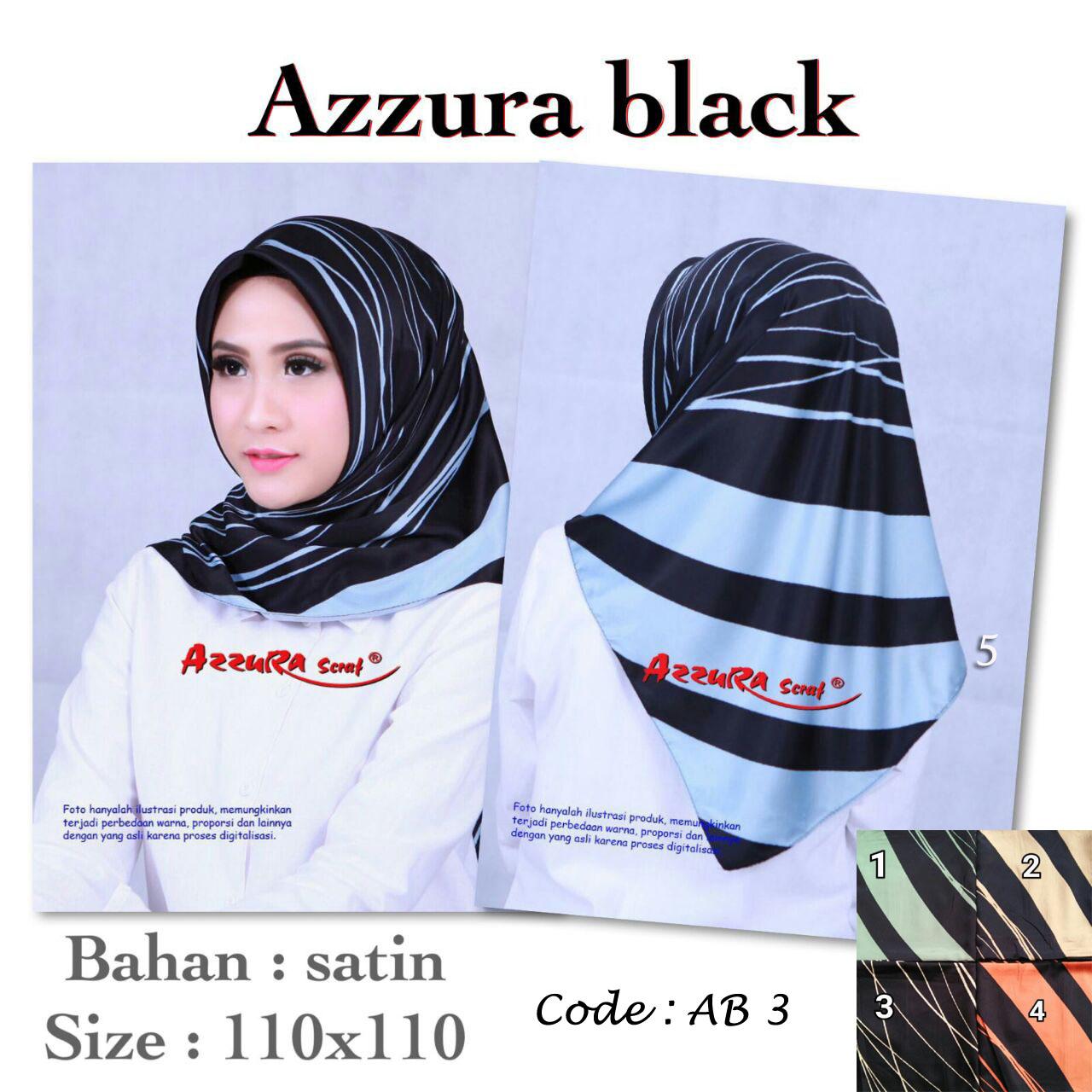 Azzura Black 27 30 40 490 AB 3 SG JIlbab