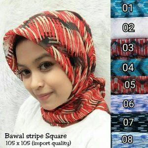 Grosir SegiEmpat Bawal Stripe