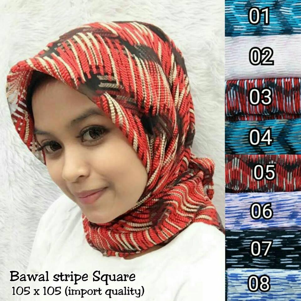 Bawal Stripe SG Jilbab