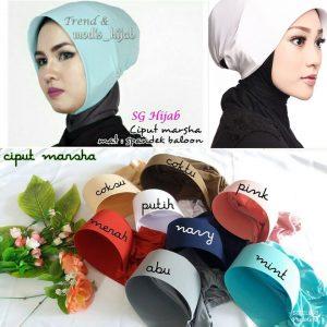 Ciput Marsha 15 18 25 250 sg hijab Oktober 2018
