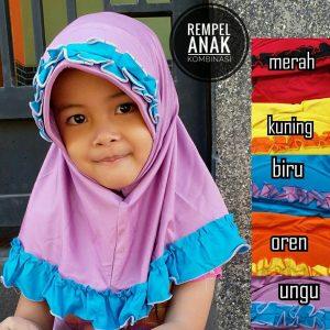 Jilbab Rempel Anak Kombinasi