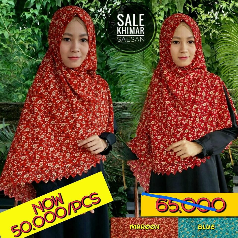 Sale Stock Khimar Salsan SG Jilbab