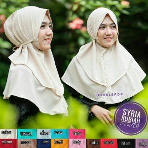 Jilbab Syria Rubiah 2 Layers