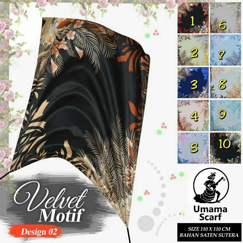 Velvet Motif by Umama SG Jilbab Design 02