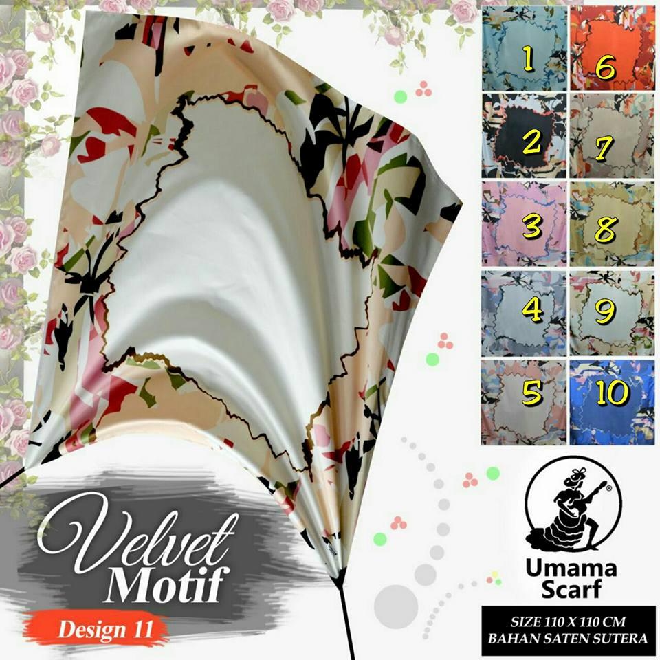 Velvet Motif by Umama SG Jilbab Design 11
