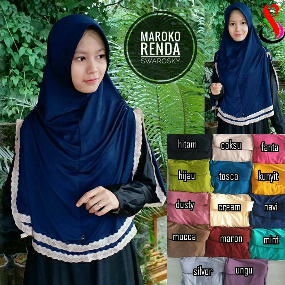 Best Seller Maroko Renda 32 35 45 590 SG Jilbab 19 Jan'18