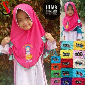 Jilbab Anak Serut Dua