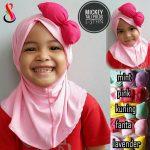 Jilbab Anak Mickey Tali Polos