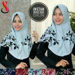 Jilbab Instan Serut Dua Daun