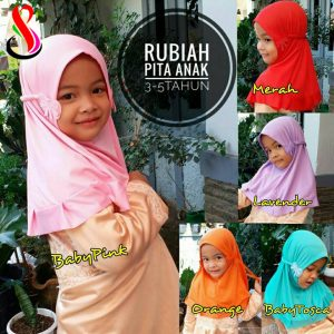 Jilbab Rubiah Pita Anak