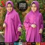 Jilbab Lengan Kancing Pita