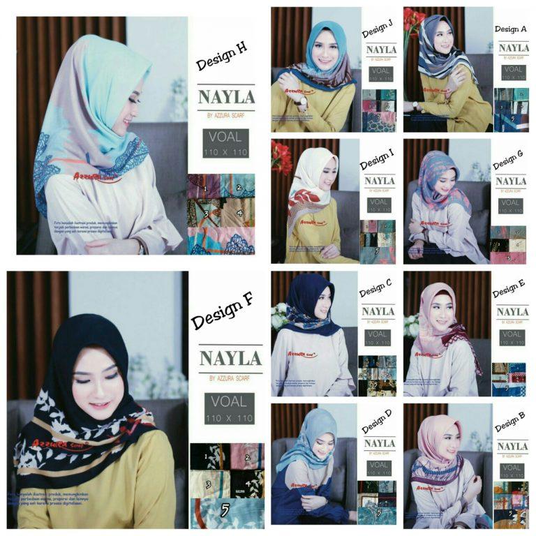 Segiempat Nayla Azzura 27 30 40 580 SG Jilbab All Design
