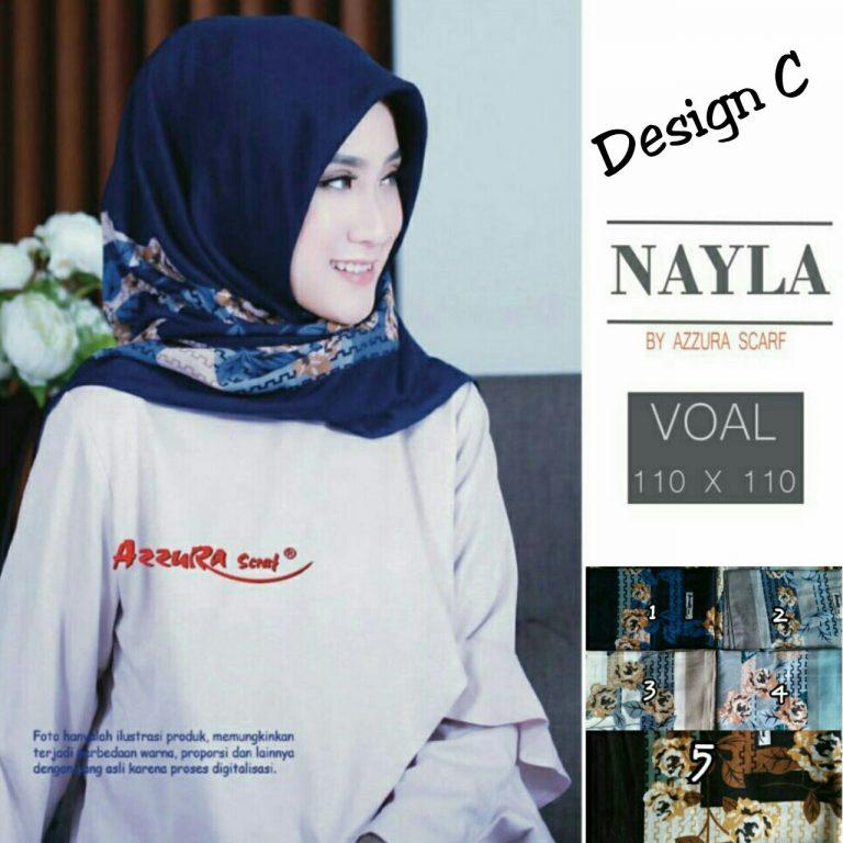 Segiempat Nayla Azzura 27 30 40 580 SG Jilbab Design C