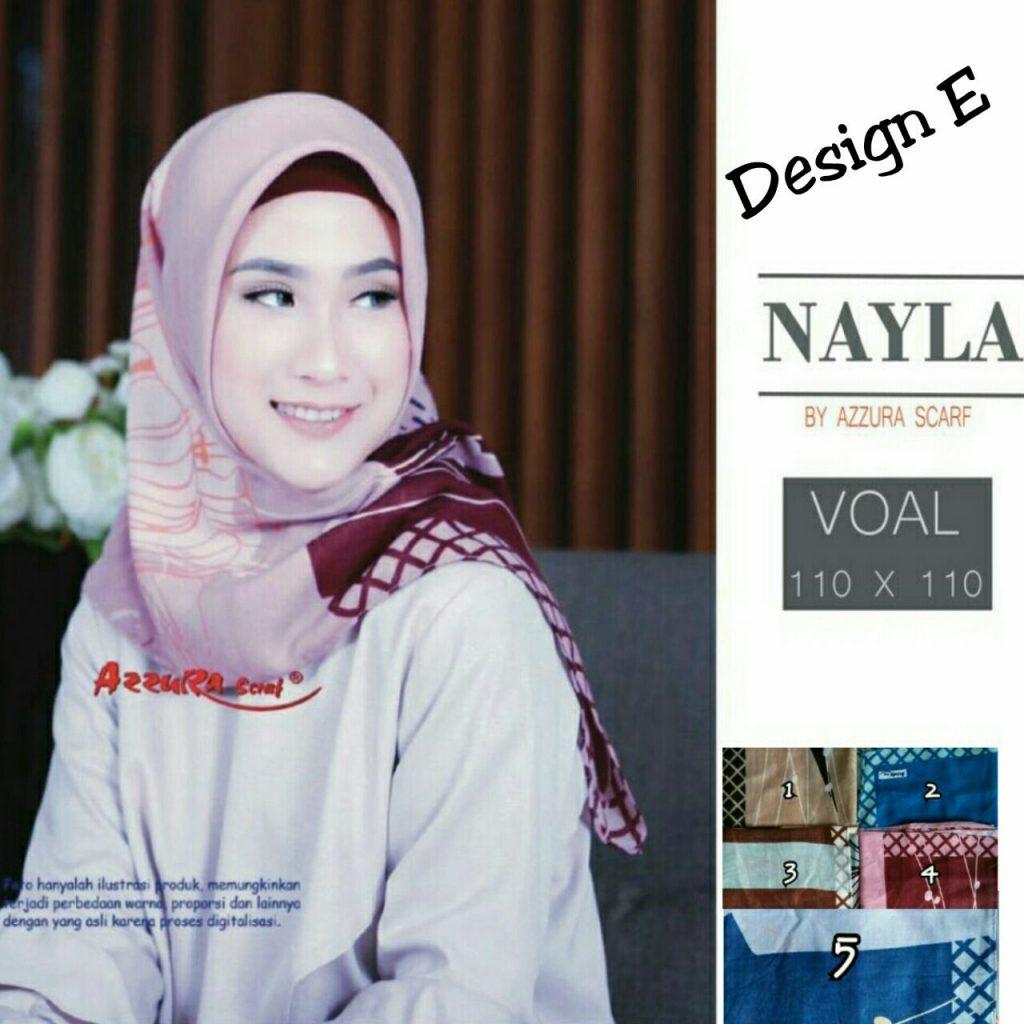 Segiempat Nayla Azzura 27 30 40 580 SG Jilbab Design E