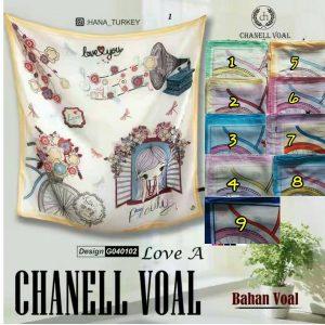 Segi Empat Chanell Voal Love A