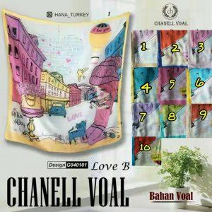 Segi Empat Chanell Voal Love B