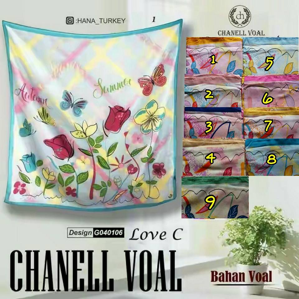 Channel Voal Love C 27 30 38 490 SG Jilbab